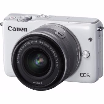 Canon EOS M10 Mirrorless Digital Camera with 15-45mm Lens (White) - intl