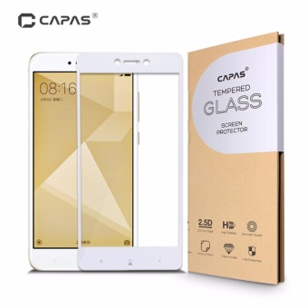 CAPAS Almost Full Cover Protective Film Tempered Glass for Xiaomi Redmi Note 4X 3GB+32GB Screen Protector - intl