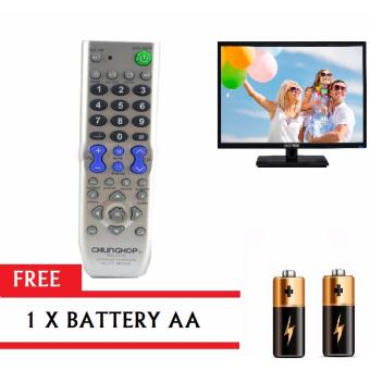 Chunghop RM-133E Universal TV Remote Control (Grey) with FREEBattery