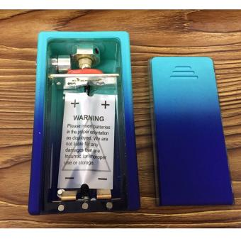 Cigreen rubberized abs box mod light blue with royal blue(mod only)