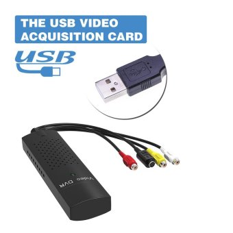 DVD DVR USB 2.0 Capture Video Adapter Converter Cable with Stereo Audio RCA S-Video Input for PC Laptop - intl