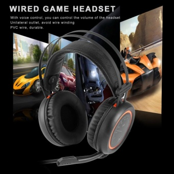 ERA Wired Gaming Headphones USB 7.1 Surround Sound Headset with Mic for Computer - intl