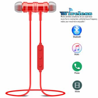 ETTE S1 Magnetic Wireless Bluetooth In Ear Stereo Sound Earphone,headphone, headset (Red)