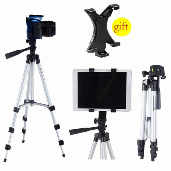 Flexible Aluminum Portable Camera Tripod Stand + Holder for TabletiPad