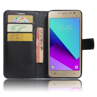 Flip Leather Wallet Cover Case For Samsung Galaxy J2 Prime G532(Black) - intl