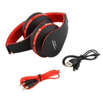 foldable wireless stereo bluetooth headset for iphone cellphone pc laptop red lazada ph. Black Bedroom Furniture Sets. Home Design Ideas