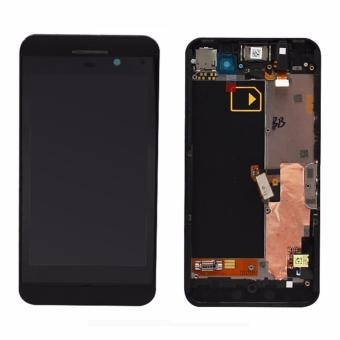 For BlackBerry Z10 3G Version Full Completed Original LCD DisplayScreen+Touch Glass Assembly With Frame, Black - intl