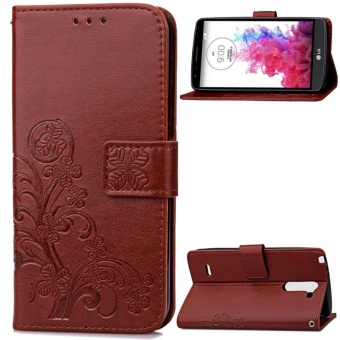 for LG G3 Stylus Case Cover - Classic Fashion Style Wallet FlipStand PU Leather Phone Case - intl