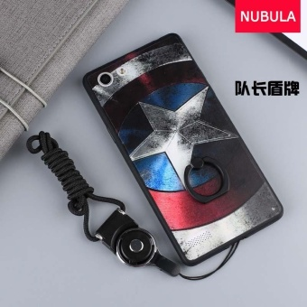 For OPPO A33 / NEO 7 Case Cover New Hot Sell Fashion Ultra-thin 3DStereo Relief Colorful Painting Soft Back Covers/Anti falling PhoneCover/Shockproof Phone case With Metal Ring and Phone Rope(DUIZHANG) - intl