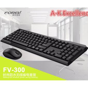 FOREV FV-300 2.4G Wireless Waterproof Keyboard and Mouse Combo