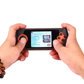 Free shipping 16 Bits Portable Player with 100 Built In Handheld Game Consoles For Sega Orange - intl
