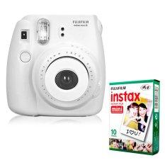 PHP 5.004. Fujifilm Instax Mini 8 Instant Camera (White) + Fuji White Edge Instant 10 FilmPHP5004