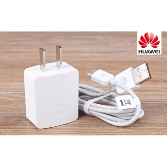 Huawei Fast Charger 1A For Huawei Smart Phone (White) with FreeMobile Silicone Phone Case (color may vary)