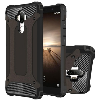 Huawei Mate 9 Case, Hybrid [Full Body] [Heavy Duty] Armor Case Dual Layer Shock Absorbing TPU Protective Case Cover for Huawei Mate 9 Black