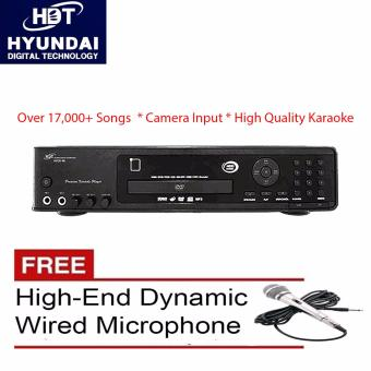 Hyundai P98 Pro N DVD Karaoke Player Up to 17,000 Songs FreeHigh-End Wired Microphone