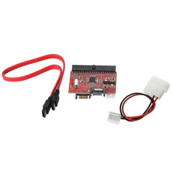 IDE to SATA Adapter Card - Red/Black