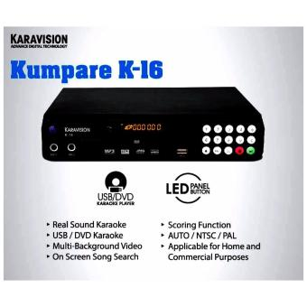 Karavision K-16 Kumpare DVD MIDI Karaoke Player with LED PanelButton, 13,000+ Songs