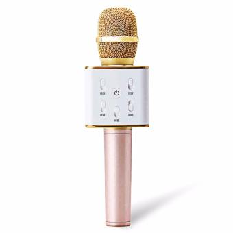 KingDo High Quality Q7 Handheld KTV Wireless Bluetooth Microphone Karaoke Player cellphone Karaoke Bluetooth Speaker