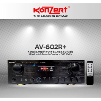Konzert AV-602R+ 500W X 2 5-Channel Karaoke Amplifier with FMRadio, USB and SD Port, Bluetooth and Remote Control