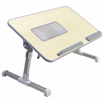 Lap Desk Master Adjustable Laptop Bed Tray Table with Cooling Fan,Portable Laptop Couch Desk with Foldable Legs - intl