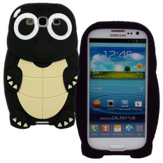 Leegoal Black 3D Turtle Cartoon Soft Silicone Case Cover for The Samsung Galaxy S3 i9300 -