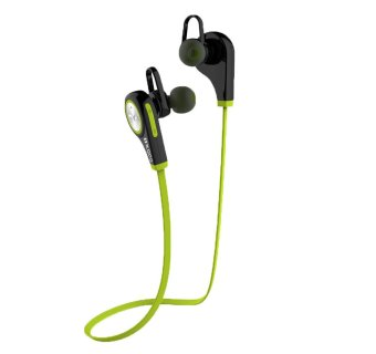leegoal Fashion Wireless Bluetooth Sport Earphone, Workout ExerciseRunning Gym In-ear Headphones with Mic, Compatible for IPhone IPadand Android Phones(Green)