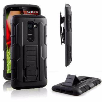 LG G2 Optimus Designer (Black) Phone Case with Kickstand