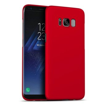 LUOWAN Galaxy S8 Case Smoothly Skin Shockproof Ultra Thin Slim Full Body Protective Cover For Samsung S8 5.8-inch(Red)