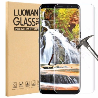 LUOWAN Galaxy S8 Tempered Glass Screen Protector,3D Full Coverage Screen Protector for Samsung Galaxy S8 (Clear)