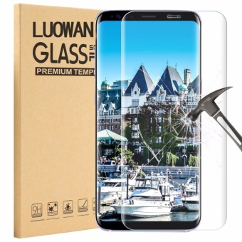 LUOWAN S8 Plus Tempered Glass Screen Protector,3D Full Coverage Screen Protector for Galaxy S8 Plus (Clear)
