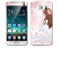 PHP 603. Luxury 3D Painting Front+Back Full Case Cover Color Tempered Glass Case For Samsung Galaxy ...