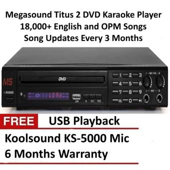 Megasound Titus 2 DVD Karaoke Player With 18000+ Songs , FreeMicrophone and 6 Months Warranty