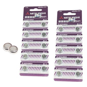 Mitsubishi LR41 Alkaline Cell Button Battery, 10 Pieces Pack of 2