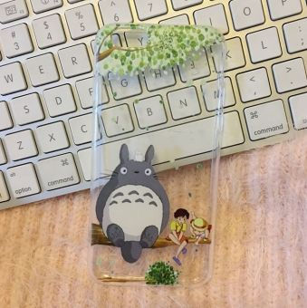 Miyazaki iphone6s/6plus cute transparent Apple case Totoro