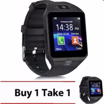 Modoex M9 Phone Quad Smart Watch (Black) Buy 1 Take 1
