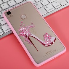 Mooncase Case For Vivo V3 Rhinestone Soft TPU Bling Glitter Transparent Back Case Cover High heels