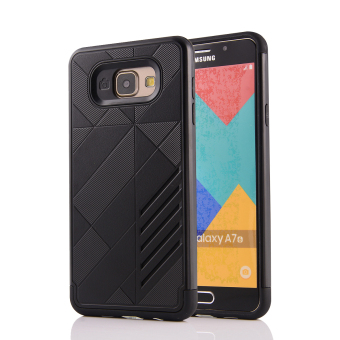 Moonmini Hybrid TPU+PC Case for Samsung Galaxy A7 (2016) A710(Black) - Intl