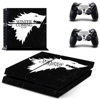 new Game of Thrones PS4 Skin Sticker For Sony Playstation 4 Consoleprotection film +2Pcs Controllers protective cover - intl