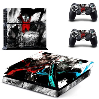 new One Piece Decal PS4 Skin Sticker For Sony Playstation 4 PS4 Console Protection Film And 2pcs Controller Protective Skins - intl