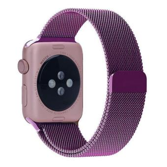 niceEshop 38mm Milanese Magnetic Loop Stainless Watch Band Strap Leather Loop For Apple Watch (Purple) - intl