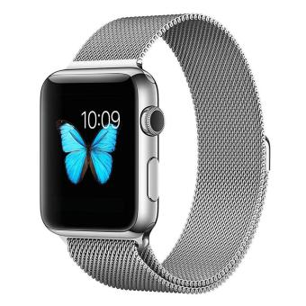 niceEshop Apple Watch Band Magnetic Clasp Mesh Loop MilaneseStainless Steel Replacement Strap For Apple Watch Sport Edition38mm Silver - intl
