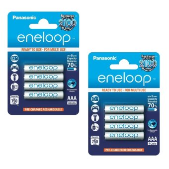 Panasonic Eneloop Pack of 4 Ready to Use AAA Battery Set of 2