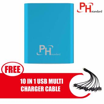 PHstandard SPN-996 10400mAh Power Bank with free 10 In 1 USB MultiCharger Cable For IPhone /Nokia /Samsung /HTC, Charger Cable,Charger, Iphone, Phone