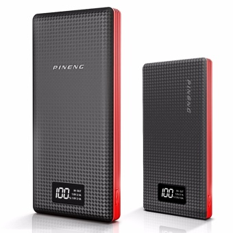 Pineng PN-969 20000mah Powerbank (Black/Red) with Pineng PN-963 10000mah Powerbank (Black/Red)