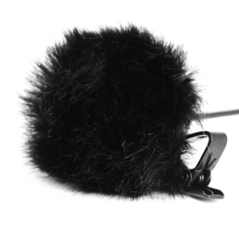 Portable Furry Microphone Windscreen Muff Artificial Fur Windshield Wind Muff for Mini Clip-on Lapel Lavalier Microphone Mic Black - intl