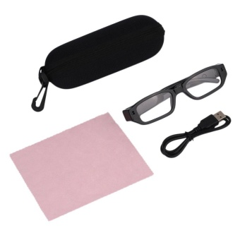 Portable Glasses Eyewear DVR Video Recorder Camera HD Spy GlassesHidden Camera - intl