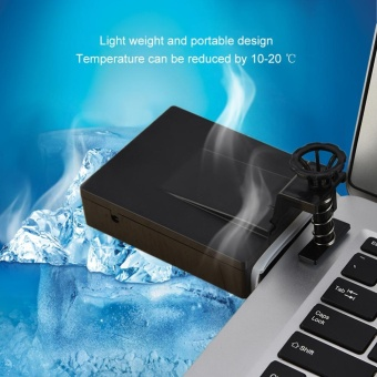 Portable Laptop USB Cooling Fan Air Cooler Adjustable Speed ForNotebook Black - intl
