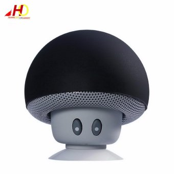 Portable Mini Mushroom Wireless Bluetooth Speaker (Black)