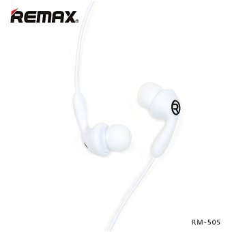REMAX RM-505 In-Ear Stereo HiFi Music Earphone Headphones PortableHeadset with mic (White)