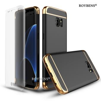 ROYBENS Ultra Thin Hard Shockproof 3in1 Case Cover With Screen Protector For Samsung Galaxy S7 Edge Black - intl